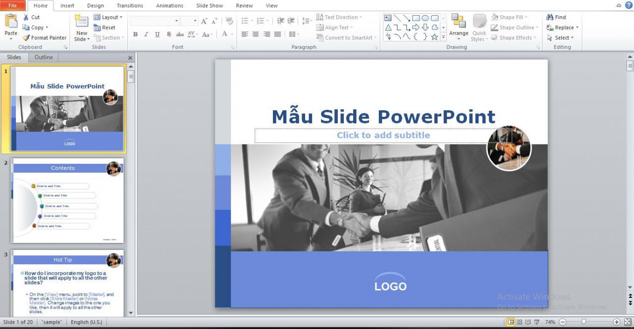Mẫu slide luận văn thạc sĩ tài chính ngân hàng số 1