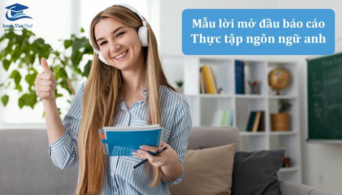 Lời mở đầu trong báo cáo thực tập Khoa Ngôn ngữ Anh